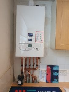 completed Baxi boiler installation