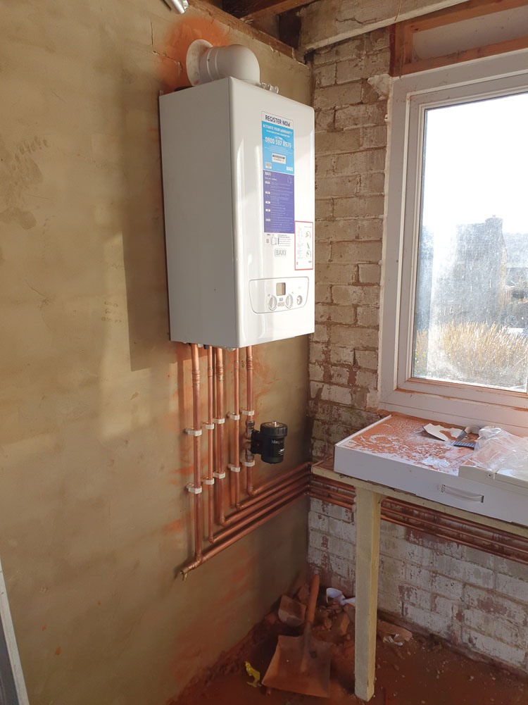 Baxi 600 combi boiler installed in Wakefield