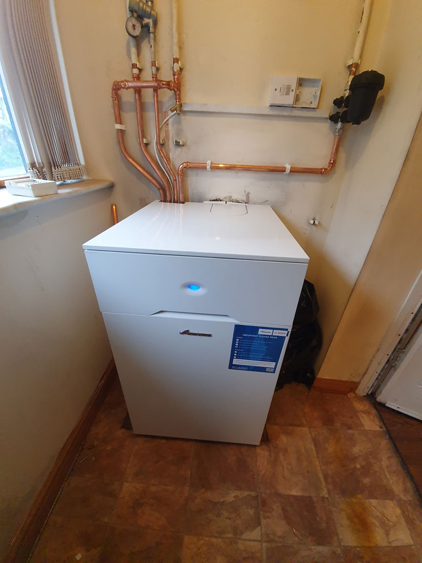 Worcester Bosch oil boiler replacement